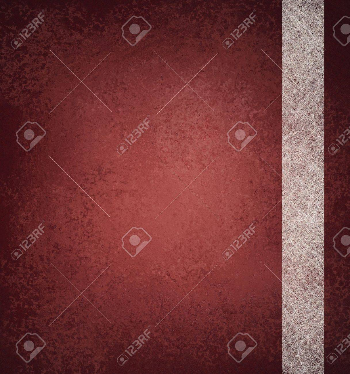 red background with vintage grunge texture and abstract stripe design of white parchment paper with copy space and highlight Stock Photo - 12623987
