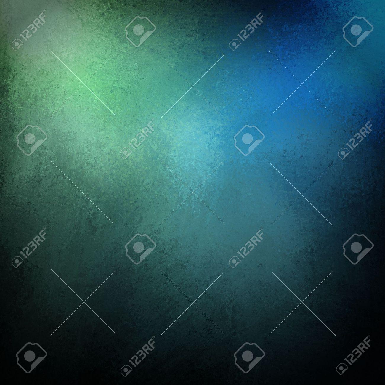 Mooie blauwe achtergrond met donkere vintage grunge textuur en ...