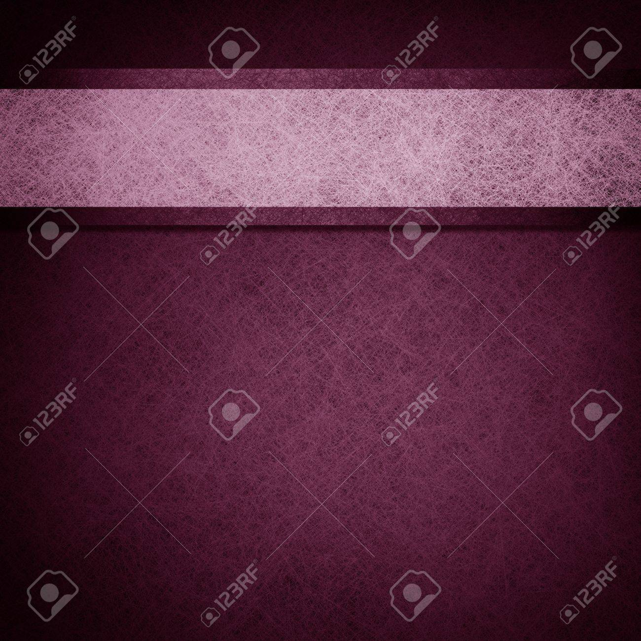 purple background layout design illustration with parchment ribbon stripe and dark edges on border of paper Stock Illustration - 12624065
