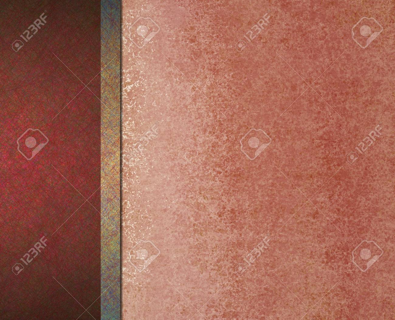 Elegant Formal Red Background With Abstract Vintage Grunge Texture Details And Scratch On Border Frame