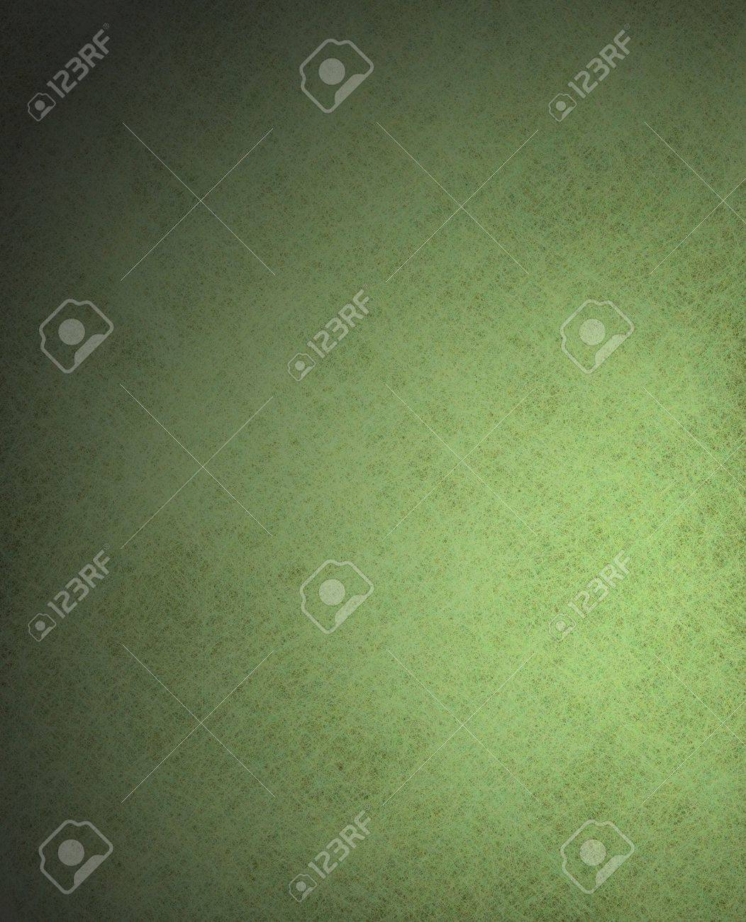 beautiful lighted green background with black vintage grunge texture and vignette border layout design with copyspace Stock Photo - 12624112