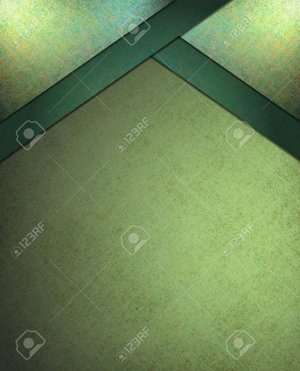 beautiful abstract  lighted green background with black vintage grunge texture and vignette border and angled corner layout design with copyspace Stock Photo - 12624116