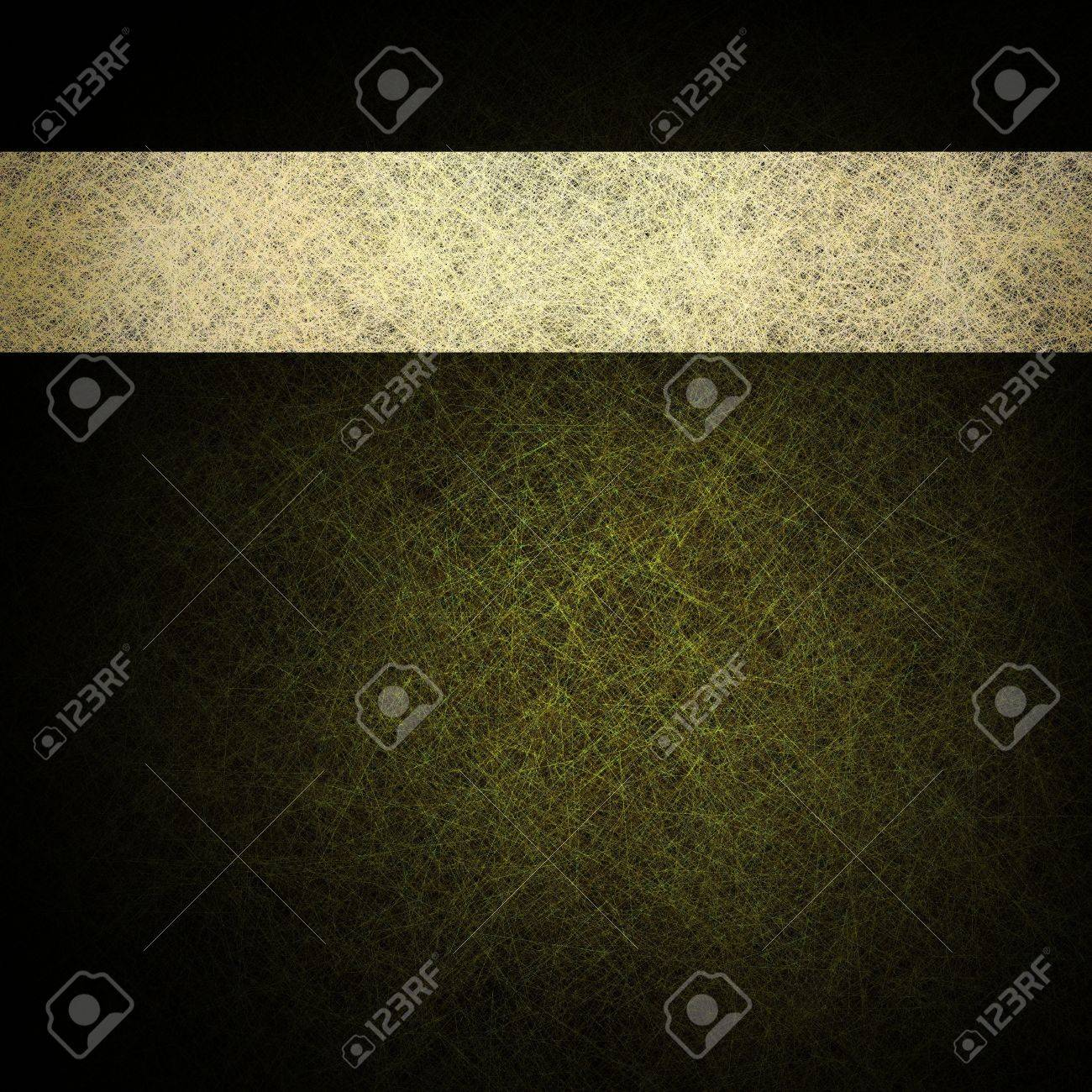elegant green gold background with dark black edges and classic white parchment ribbon design layout Stock Photo - 12865966