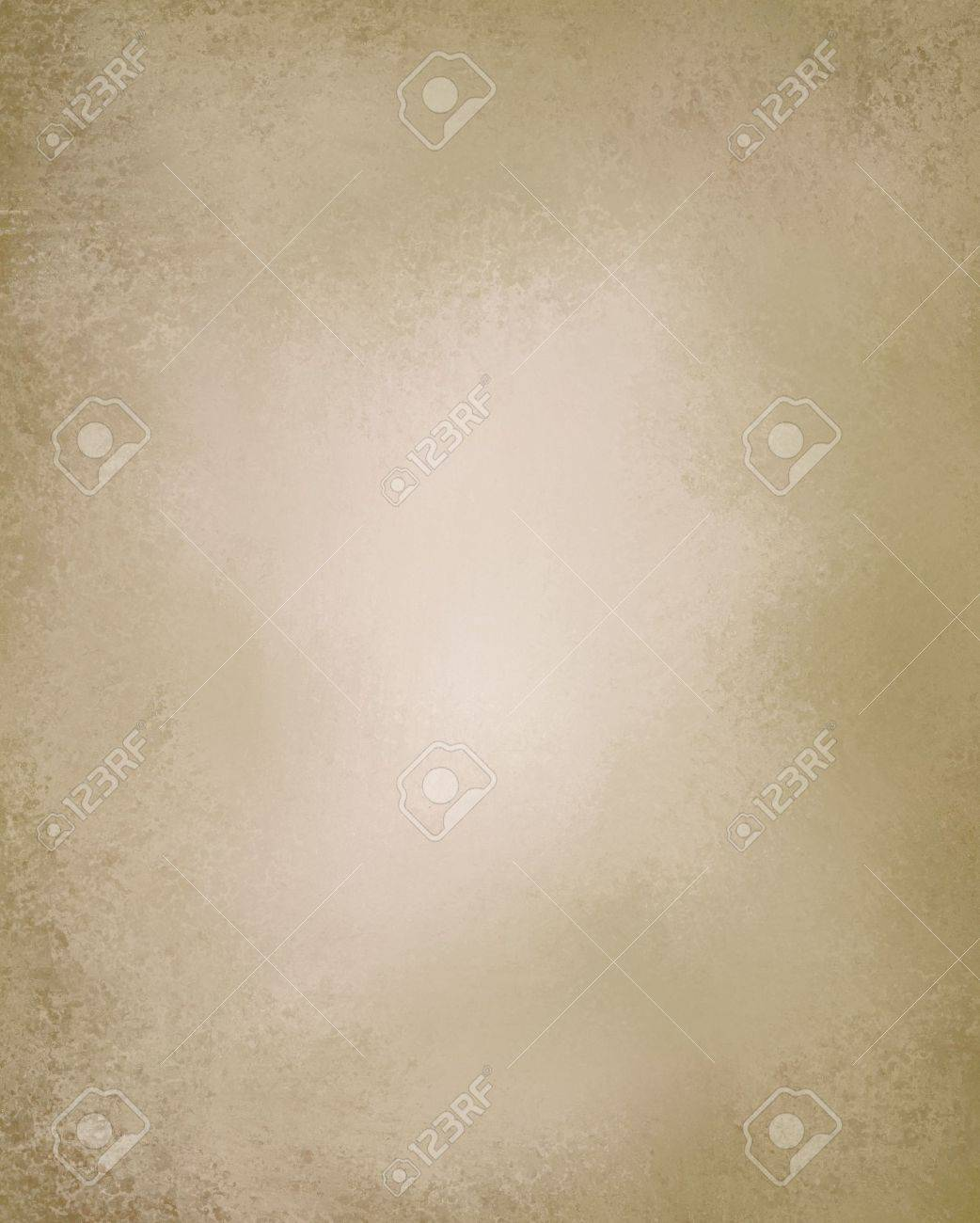 beige or light brown paper background with vintage grunge texture and highlight and old parchment look with copyspace Stock Photo - 12865964