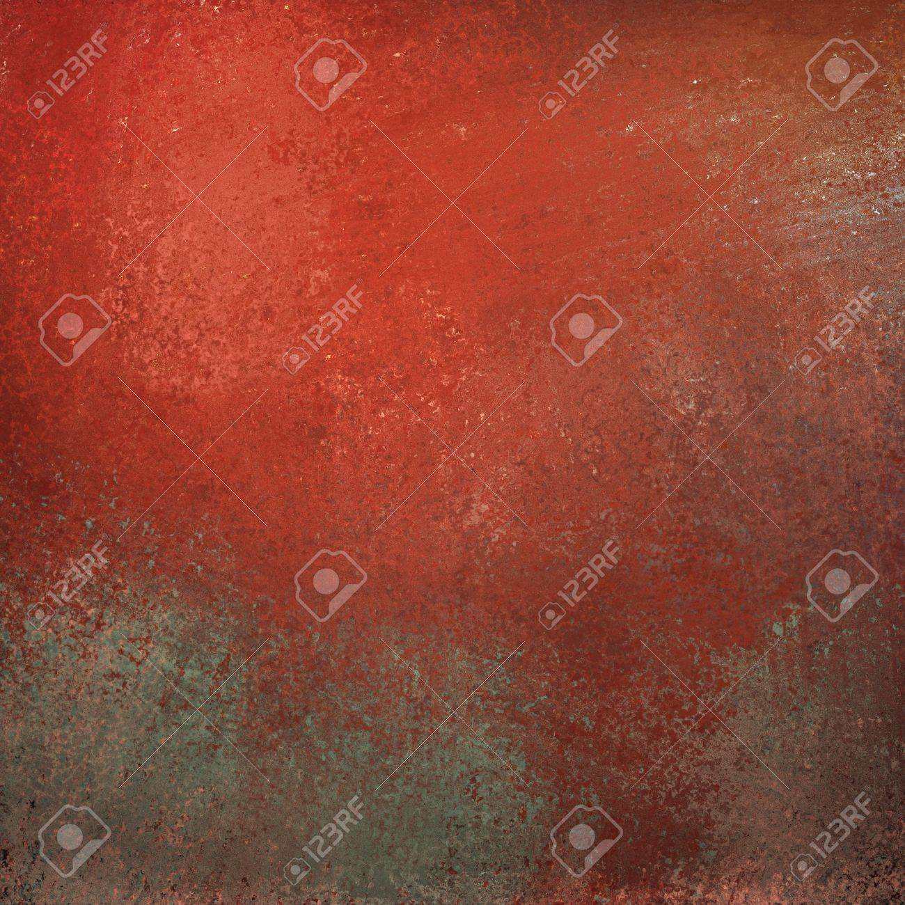 red background with graffiti grunge vintage texture and bright highlight on gray stone illustration with copyspace for text or title Stock Illustration - 12865969