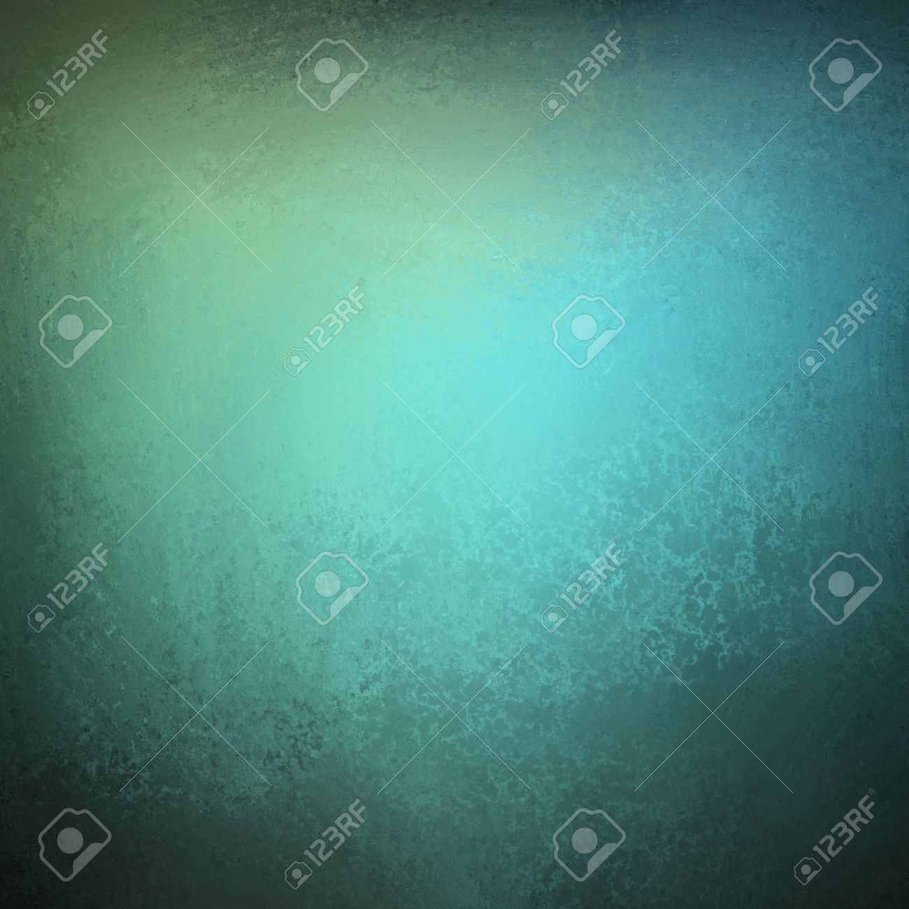 beautiful blue background with dark vintage grunge texture and lighting of black vignette frame on border of canvas and distressed stain streaks on wallpaper illustration design for graffiti art Stock Illustration - 12865974
