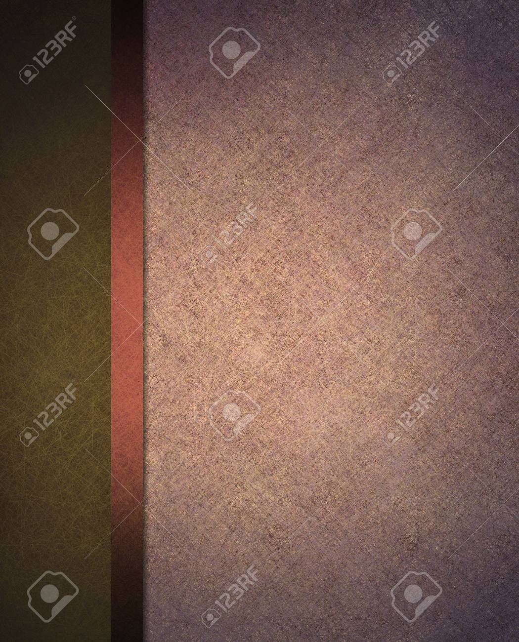 pale light pink and dark olive green background with banner side bar and ribbon stripe in website template layout or formal classic menu backdrop Stock Photo - 13143360