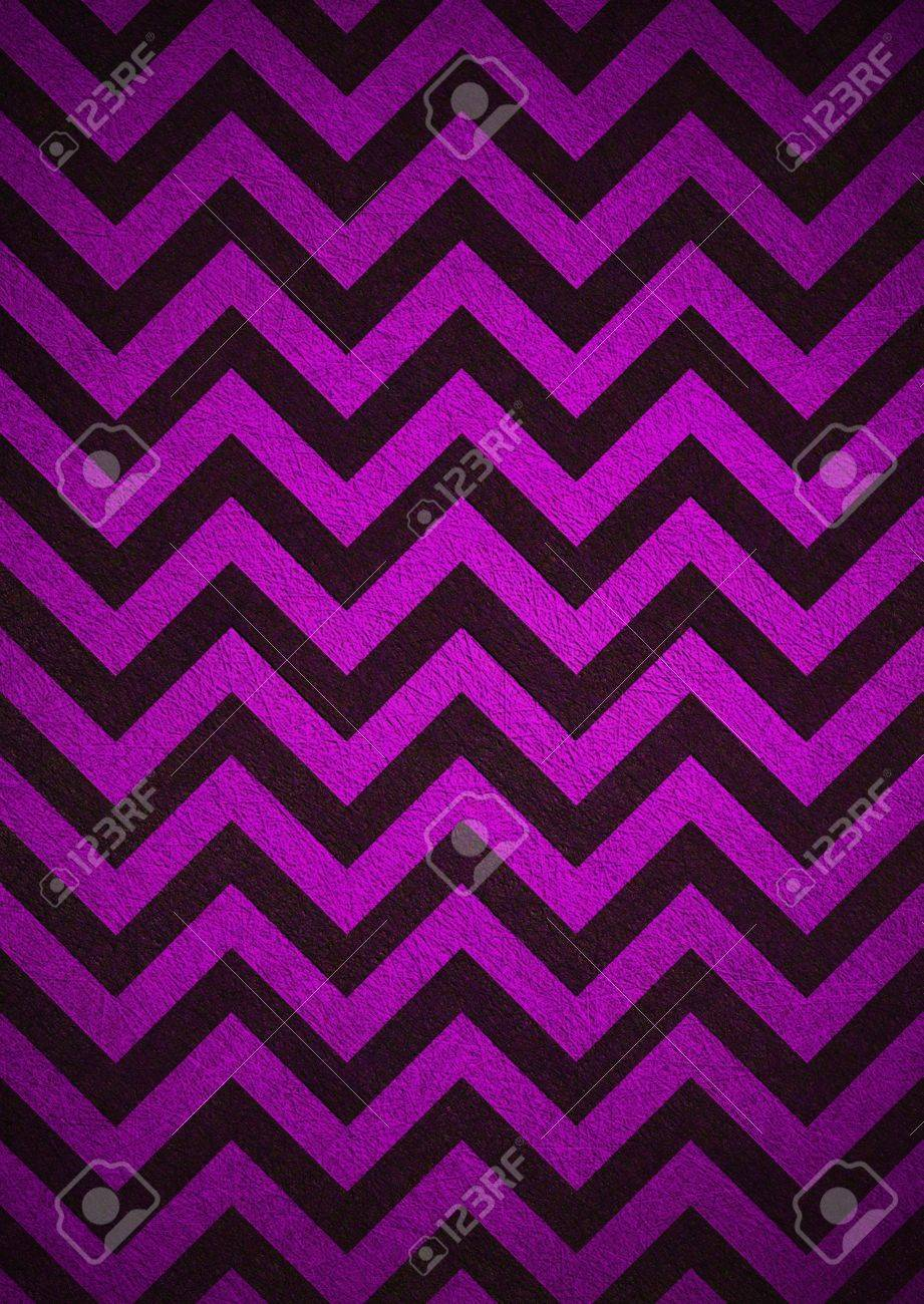 Retro Purple Background Of Black Chevron Stripes Is Patterned Wallpaper And Vintage Grunge