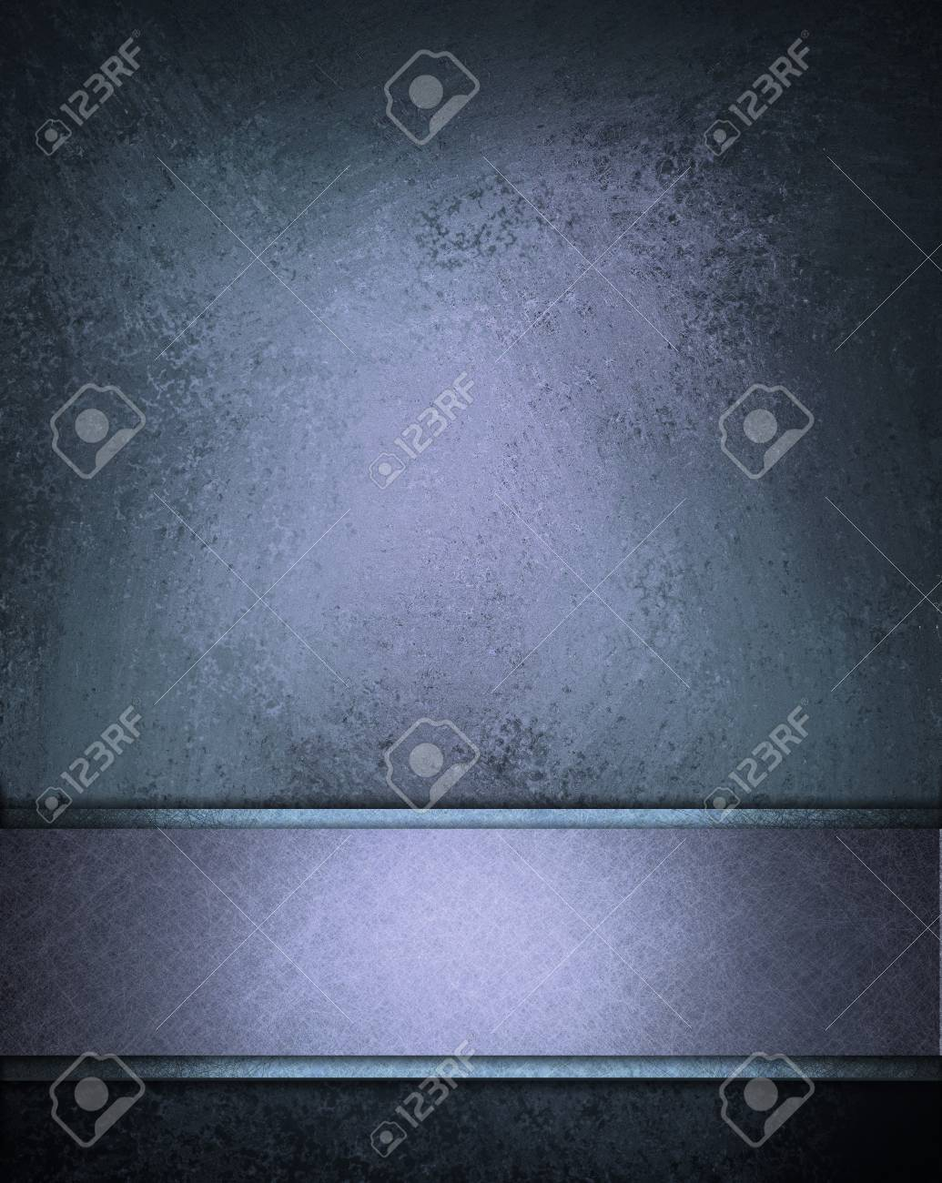 elegant blue background with abstract vintage grunge background wall texture or web template background of banner bar for text or title, fancy blue wallpaper wall or poster layout design for brochure Stock Photo - 13861982