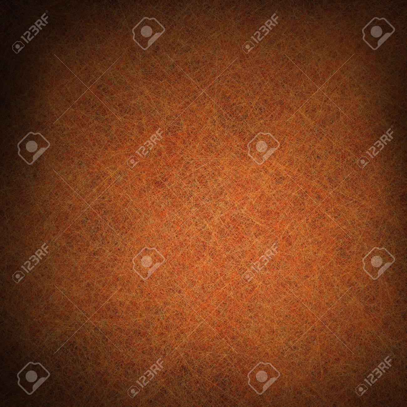 Oranje Bruine Achtergrond Met Zwarte Vignet Grens En Vintage ...