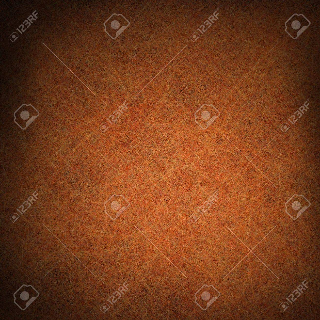 orange brown background with black vignette border and vintage grunge background texture design layout, autumn thanksgiving background colors, halloween backdrop for brochure or sign Stock Photo - 14187249