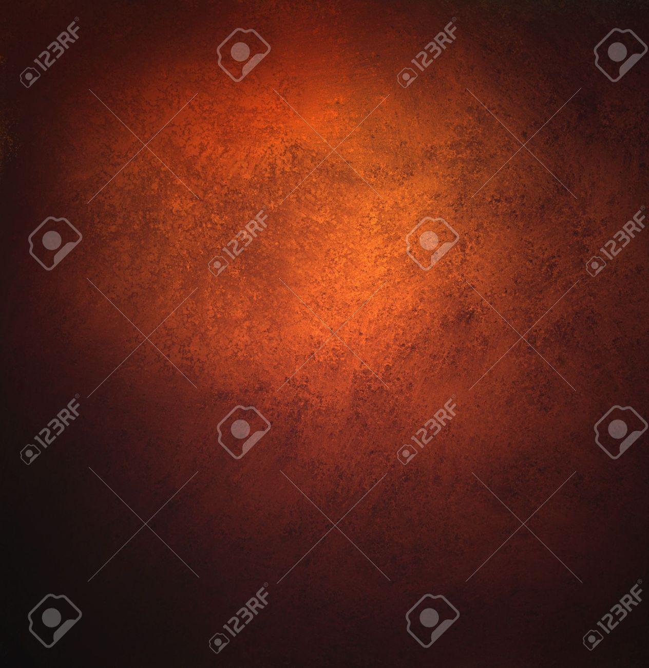 Abstrakte Orange Hintergrund, Alte Schwarze Vignette Rand Oder ...