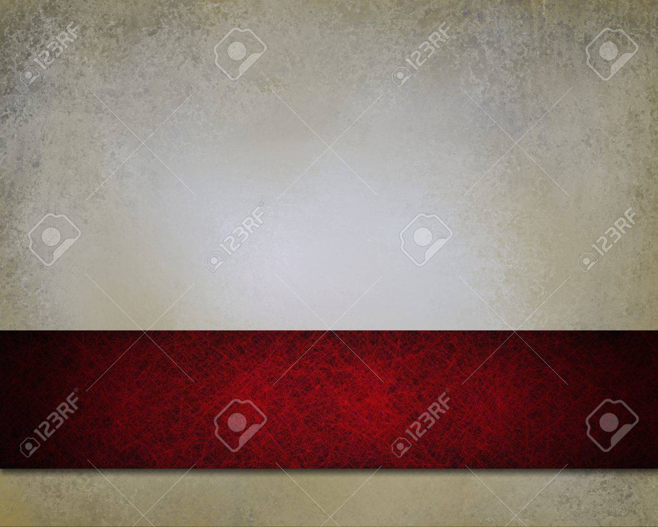 abstract white background grunge red ribbon stripe with vintage grunge background texture and web template layout design and vintage wallpaper texture and copy space for ad or brochure Stock Photo - 14674421