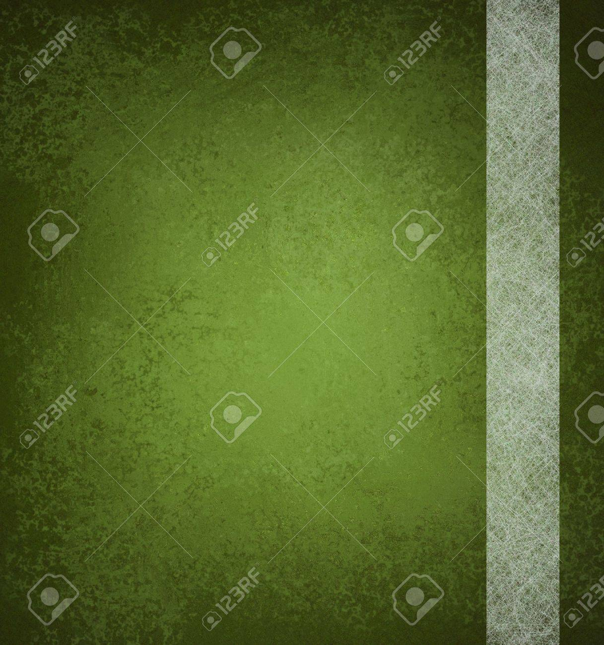 abstract green background with vintage grunge background texture and ribbon stripe design of white parchment paper on green wallpaper with blank copy space and highlight for ad or brochure Stock Photo - 14674427