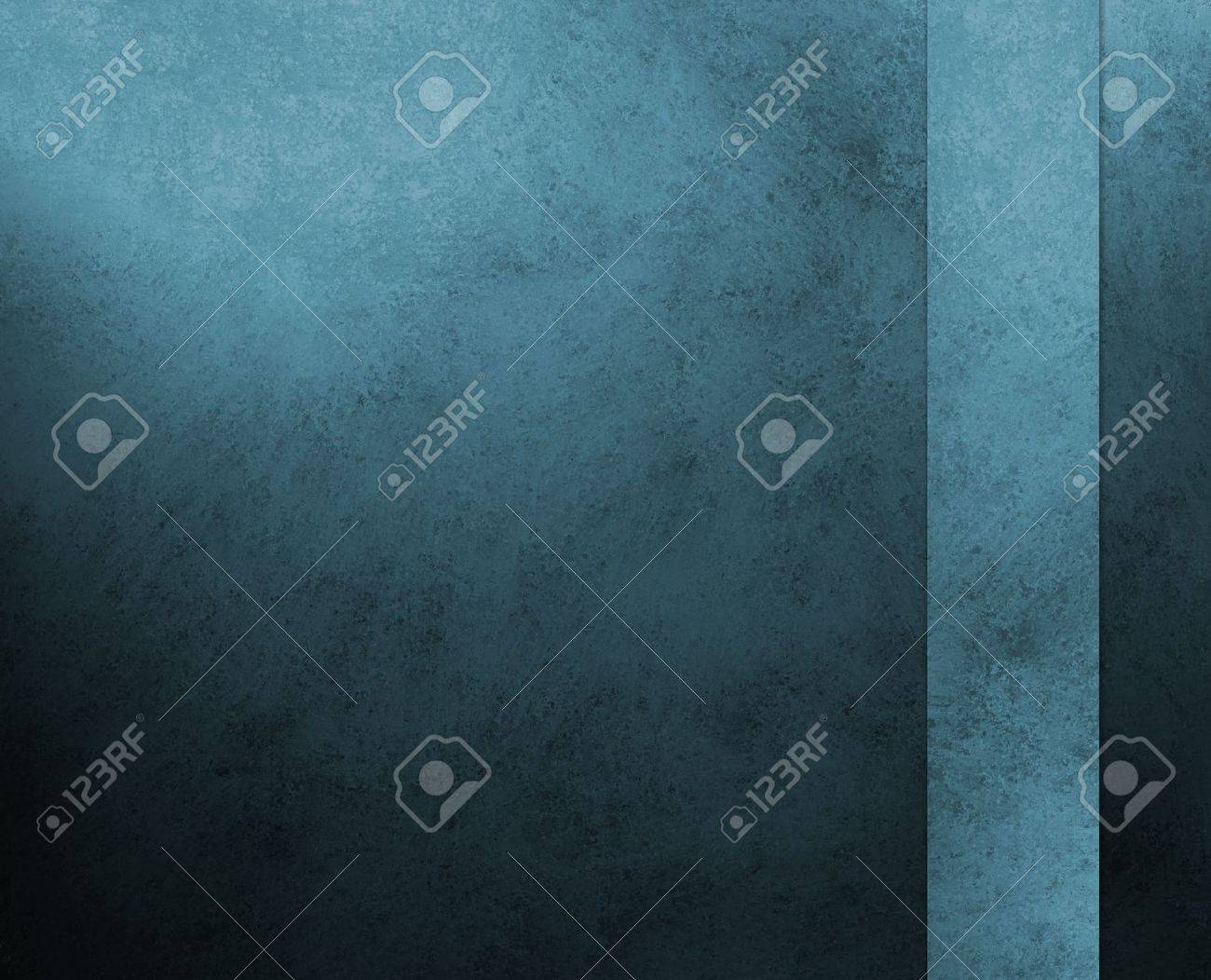 black blue background, dark colors, with vintage grunge background texture, abstract spots and stains around border, for elegant brochures, luxury ads, website templates, scrapbook Stock Photo - 14674424