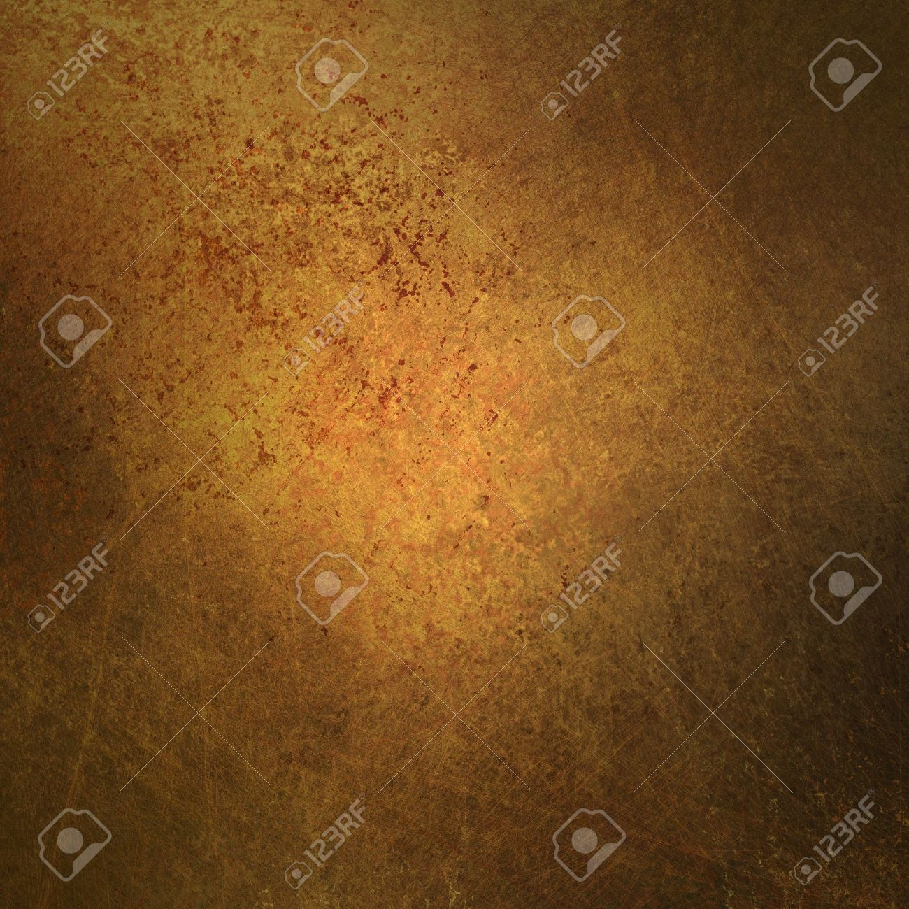 grungy brown gold background with abstract vintage grunge background texture sponged and distressed for worn old faded background paper or parchment, use for retro brochure ad or antique web template Stock Photo - 15139298
