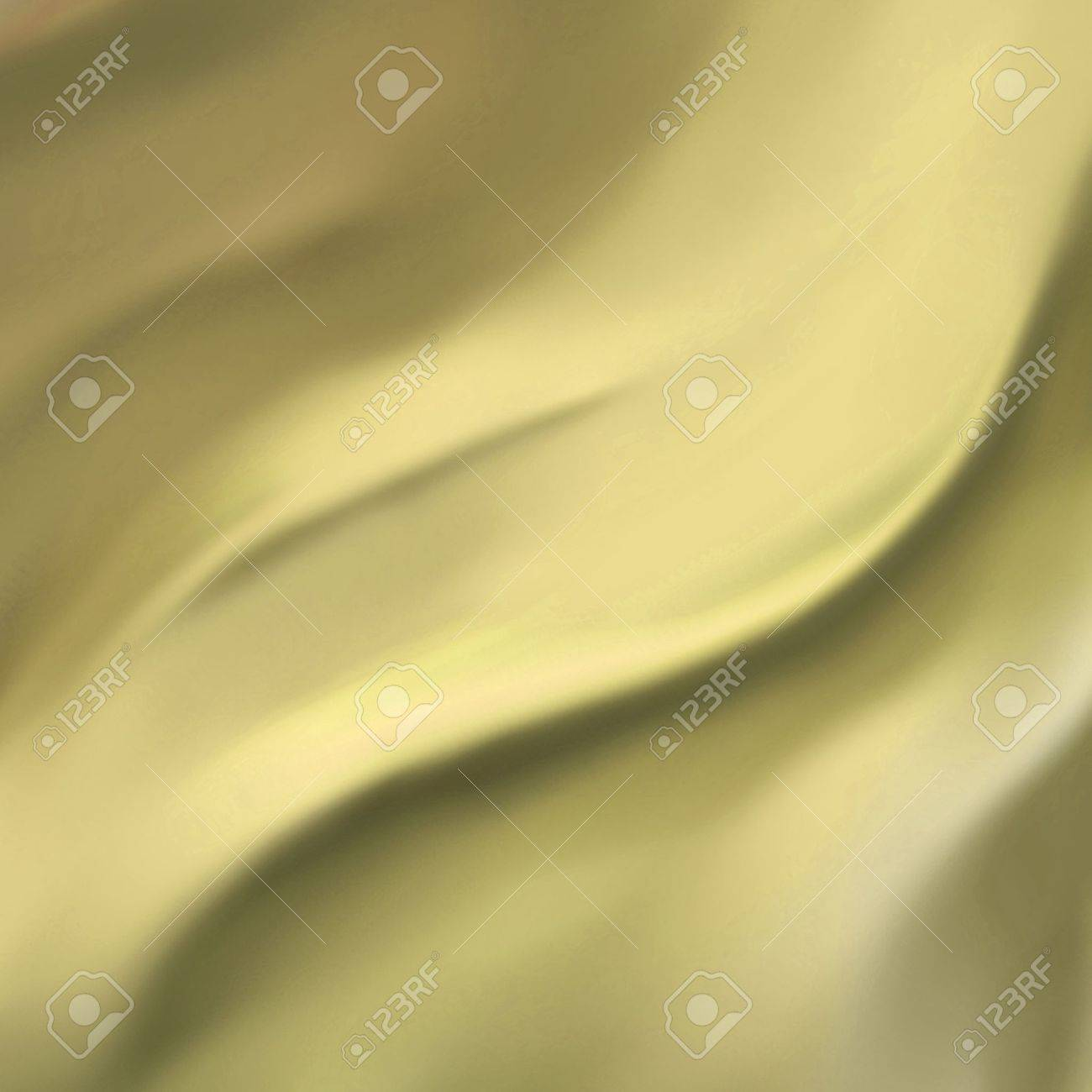 elegant gold background abstract cloth or liquid wave illustration of wavy folds of silk texture satin or velvet material or yellow luxurious background wallpaper design of pale curve gold material Stock Illustration - 15308253
