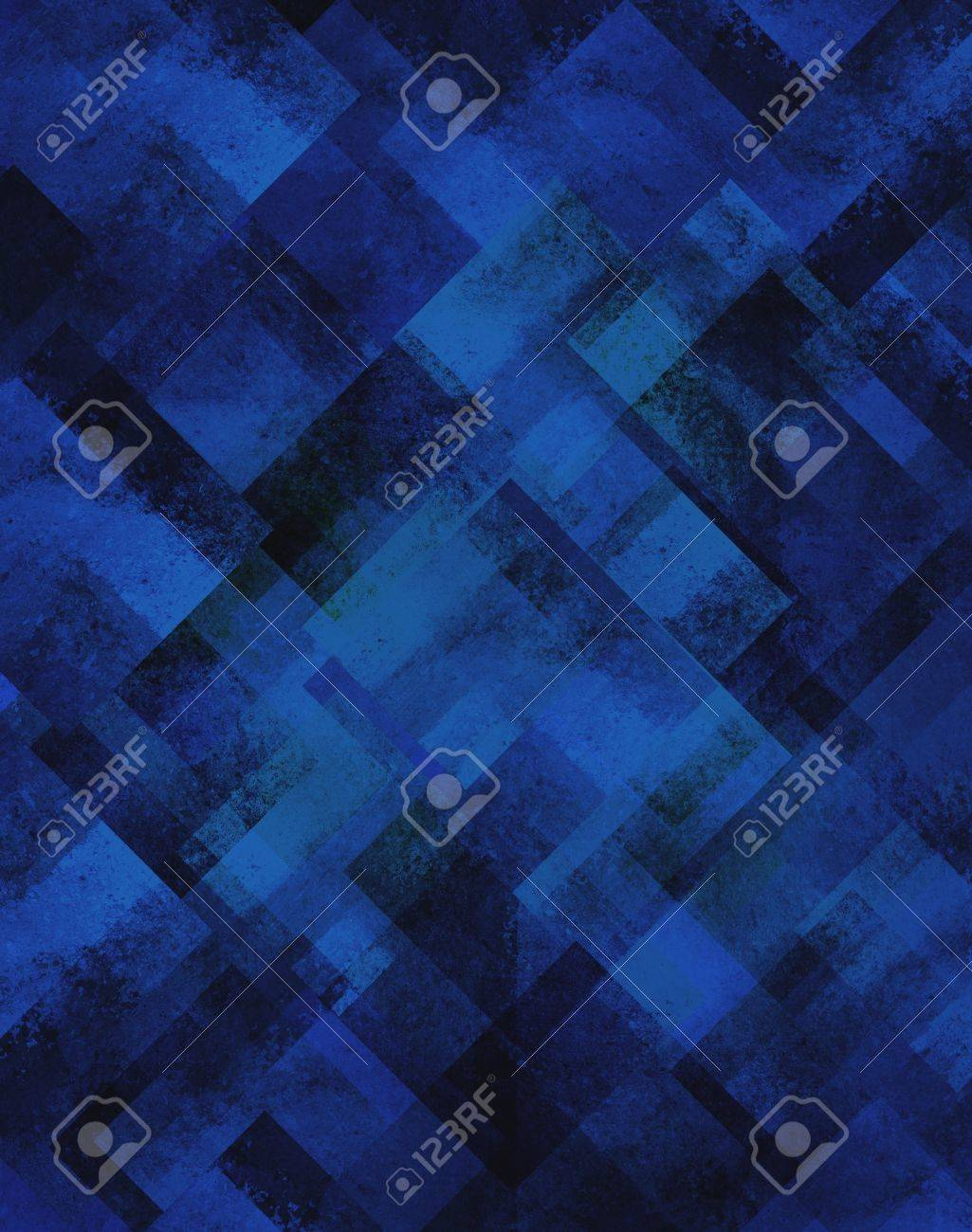 Abstract Blue Background Geometric Design Of Diamond Square Shapes
