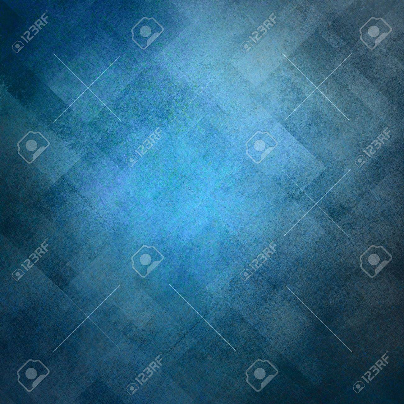 abstract blue background image pattern design on old vintage grunge background texture, blue paper diagonal block pattern with geometric shapes and line design elements, luxury background for web ad Stock Photo - 16713336