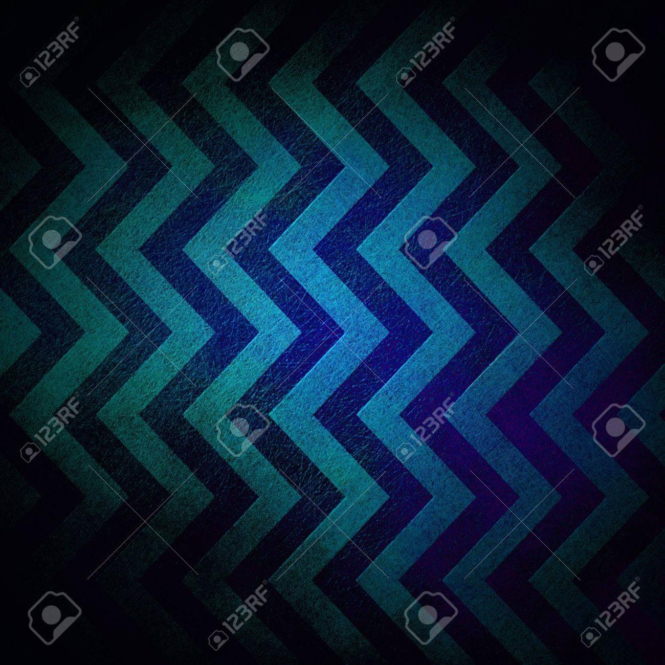 abstract chevron background zigzag pattern stripe lines in dark blue background on vintage grunge background texture canvas, old worn antique abstract background black border for web design banner Stock Photo - 17116245