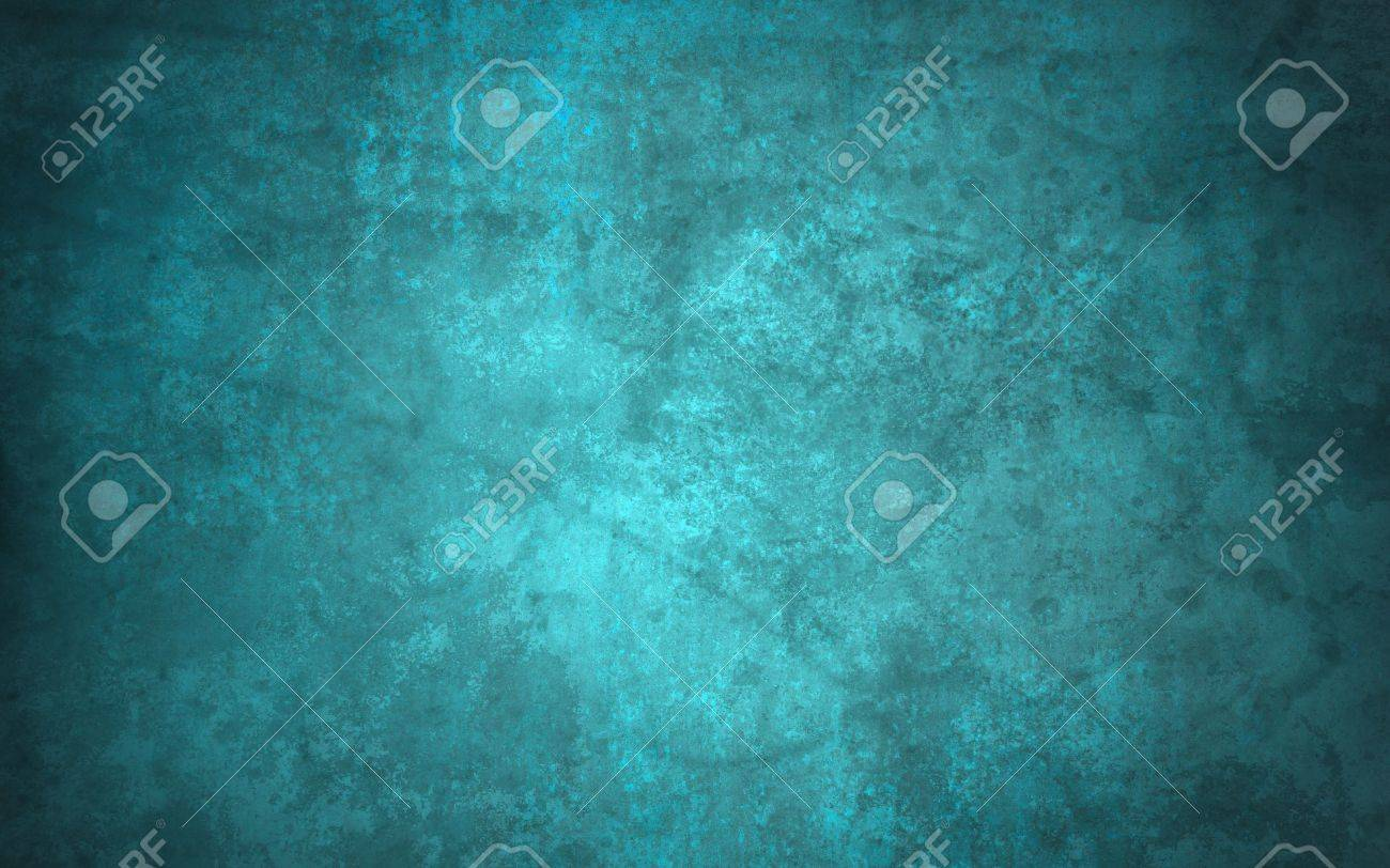 abstract blue background of old faded vintage grunge background texture, faint grungy black sponge design border, blue paper wallpaper for brochure background or web template background or book cover Stock Photo - 17961026