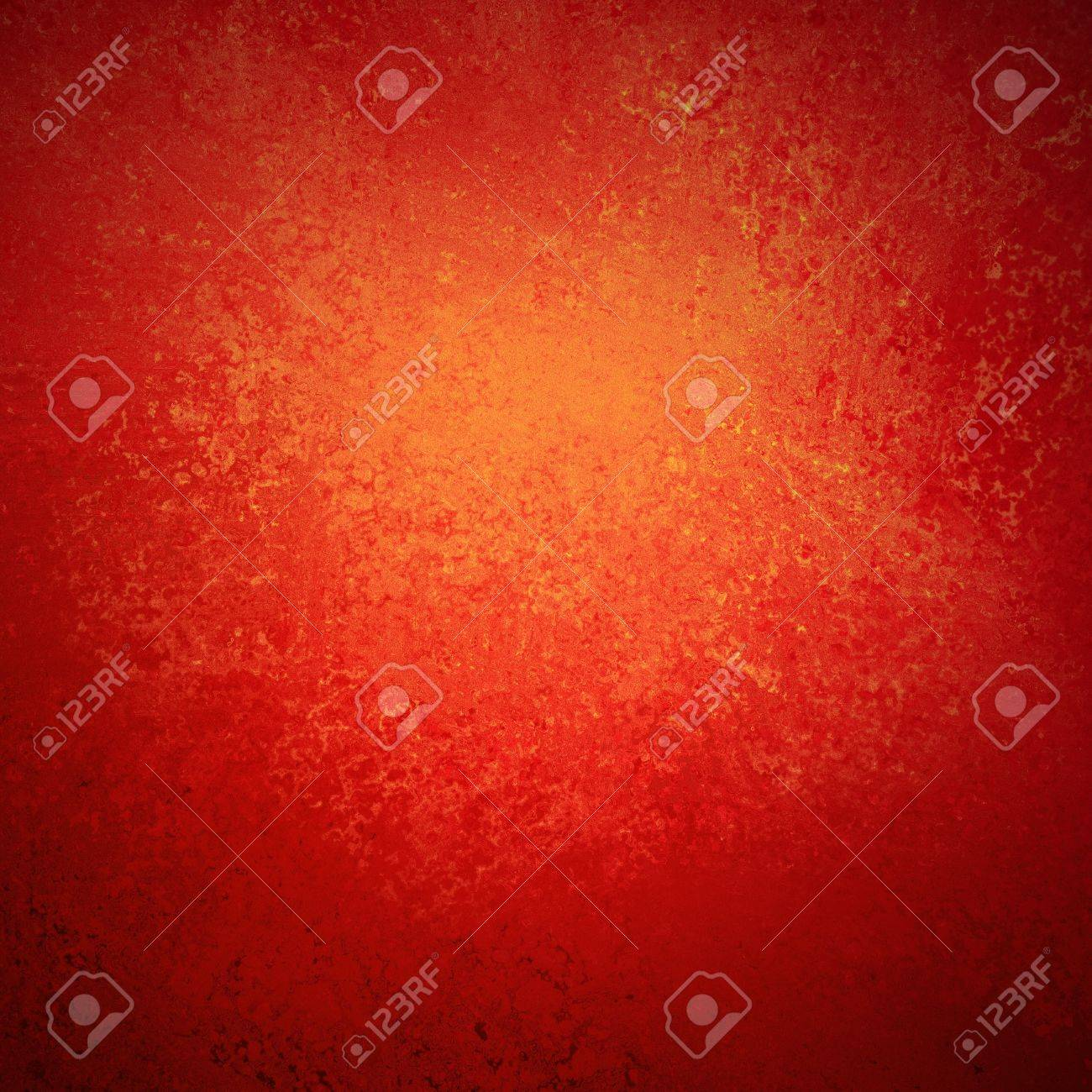 abstract red background orange center, vintage grunge background texture design of elegant antique holiday Christmas background paper or web background templates, grungy old background paint wall Stock Photo - 19058480