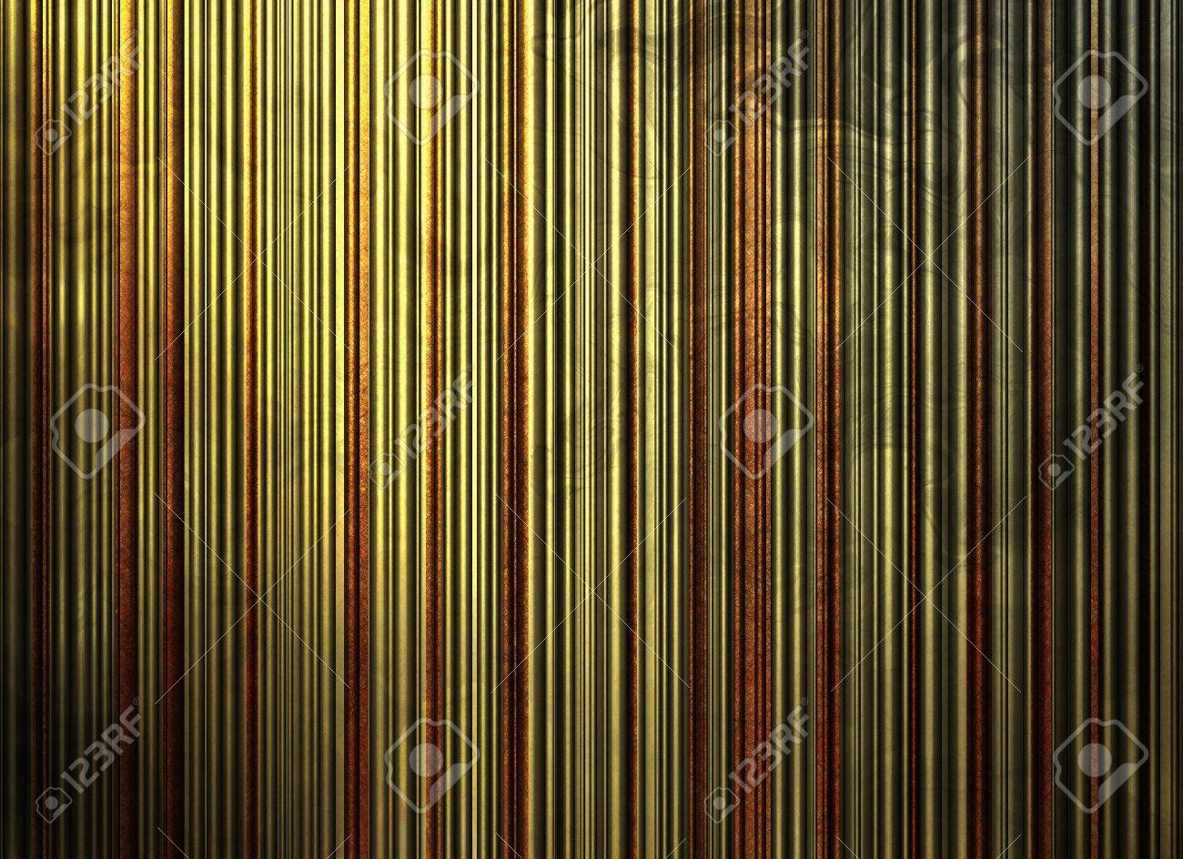 Abstract Stripe Background Pattern Wallpaper Of Yellow Distressed Vintage Grunge Texture Surface Rustic Gold