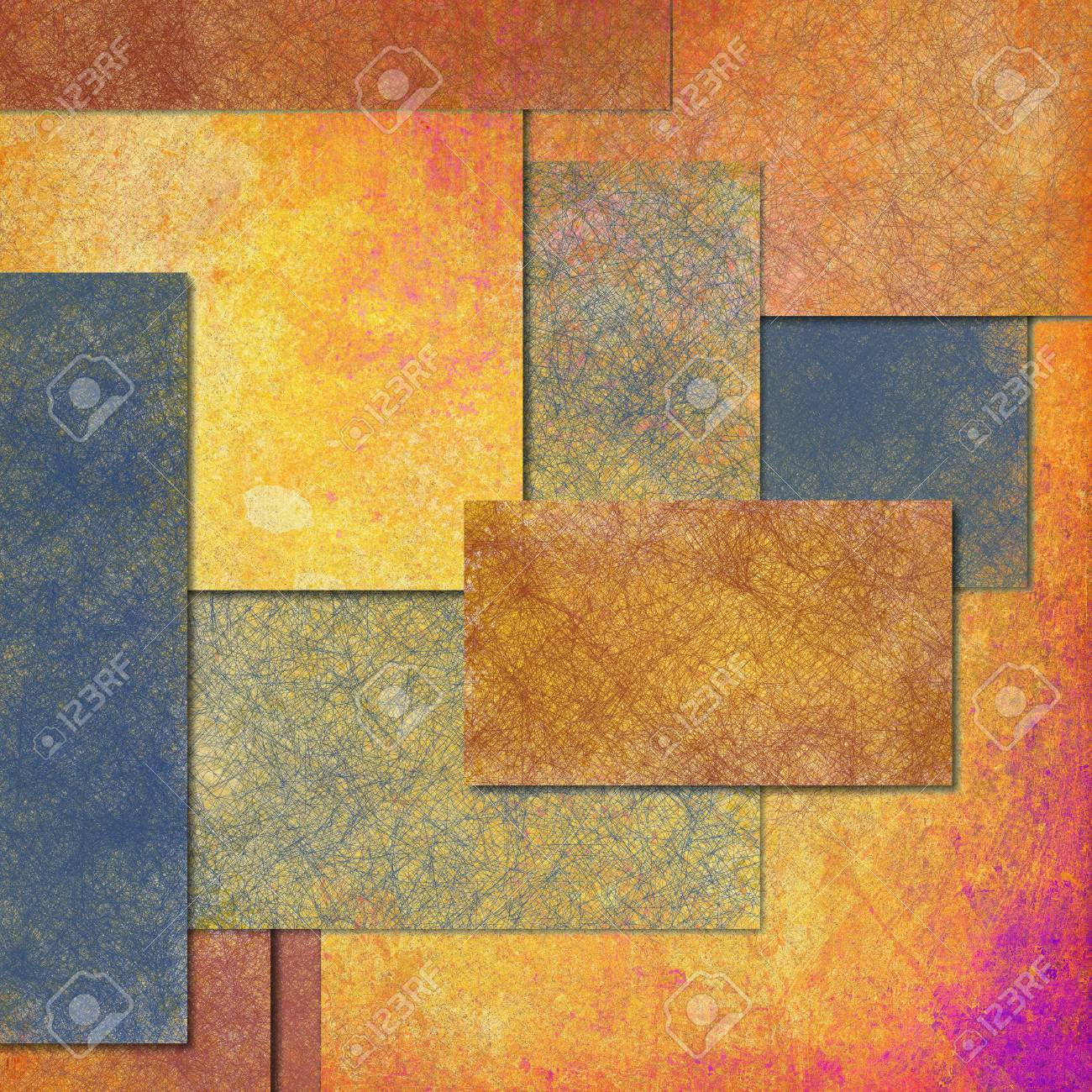 Abstract Gold Background Or Blue Background Rectangle Shape Layers ...