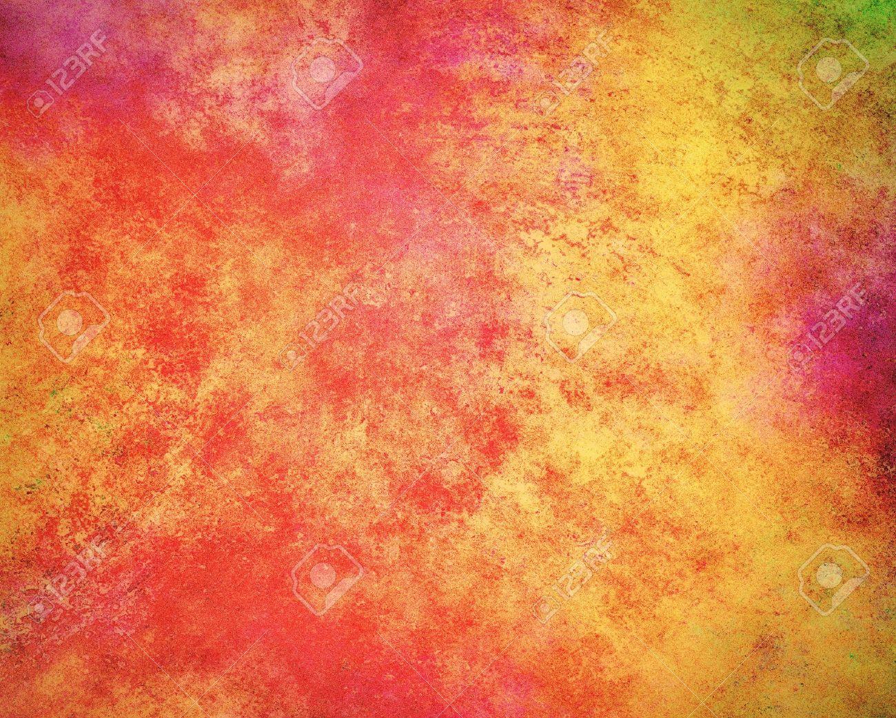 Abstraite D\'or Sur Fond Rouge Rose Orange Et Jaune Couleurs ...