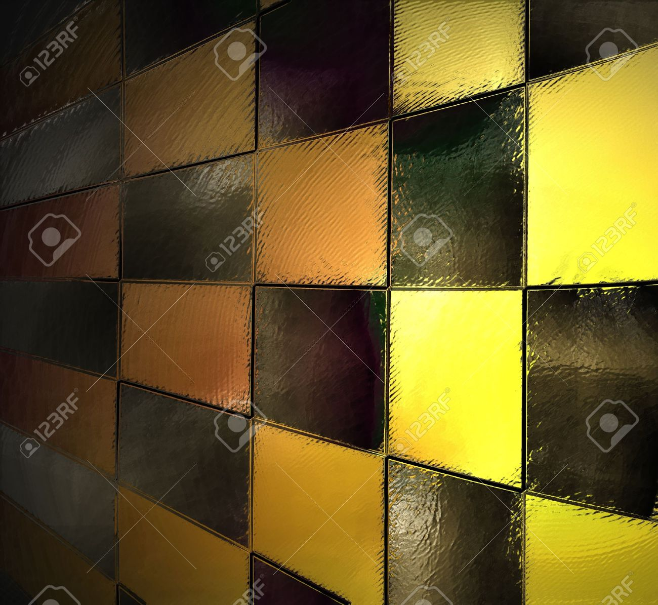 Design car flags - Abstract Yellow Background Black Checkered Pattern Checkerboard Race Car Flag Block Wall Background
