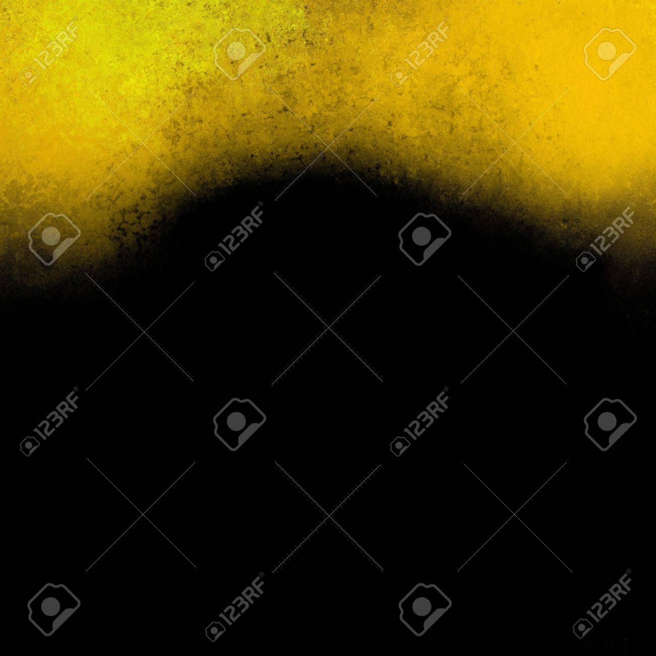 black gold background abstract wavy border, vintage grunge background texture design website header background template, elegant artsy paint canvas wall, light paper yellow background curve element Stock Photo - 21167267