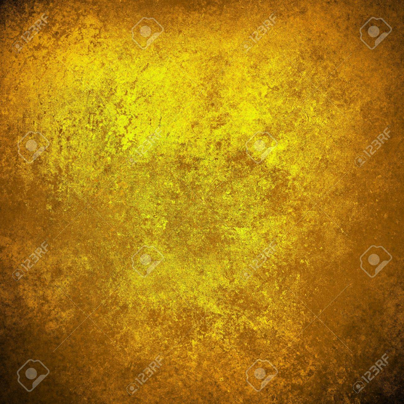 Abstract Gold Background Yellow Warm Colors Black Corners Vintage