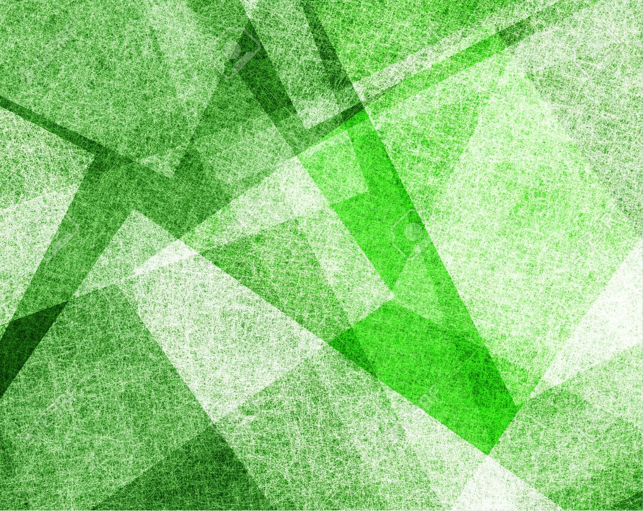 Abstract Green Background With White Parchment Paper Geometric Shapes Texture Linen Canvas Style