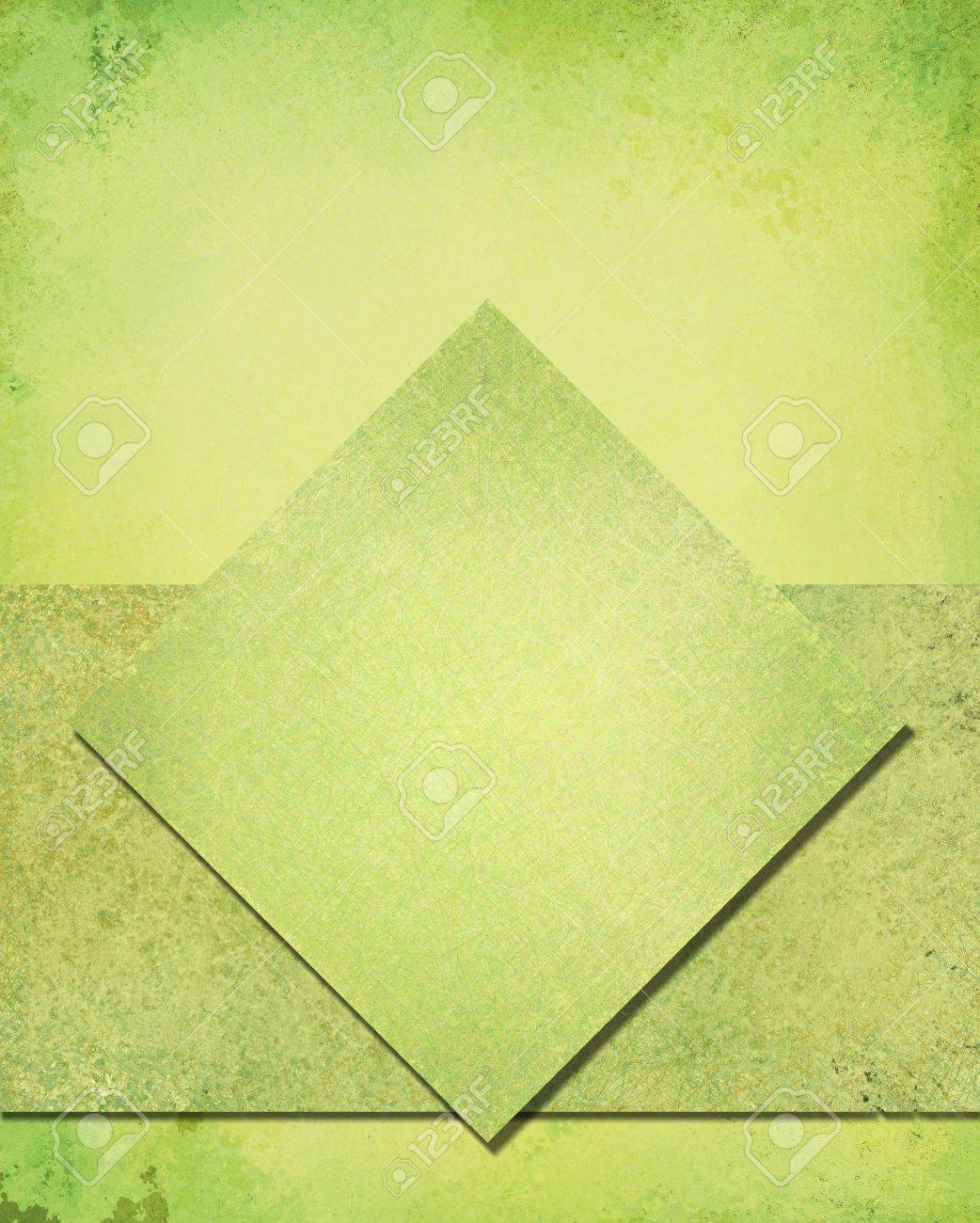 layered abstract green background layout design with diamond square and rough stripe shape layer with vintage grunge background texture, lime green color sponge paint, green Christmas background color Stock Photo - 22559207