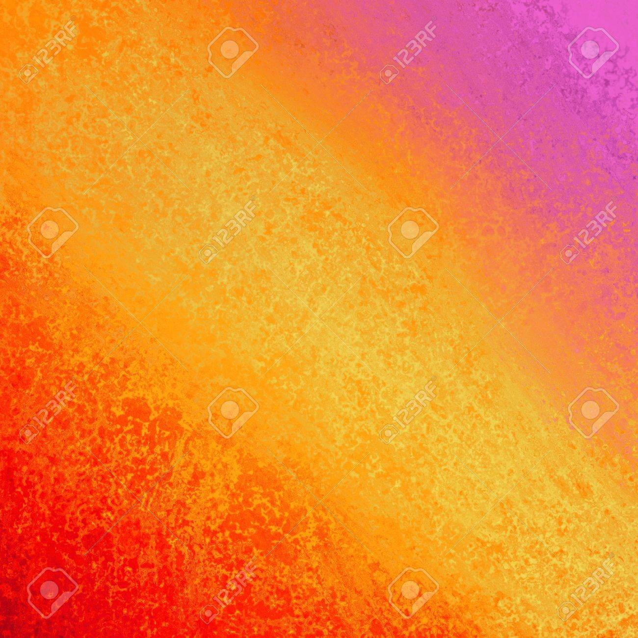 hot red orange abstract design element angle stripe with rough edge border frame corners, bright purple pink color splash, rough distressed texture grunge paint wall for website Stock Photo - 23323005