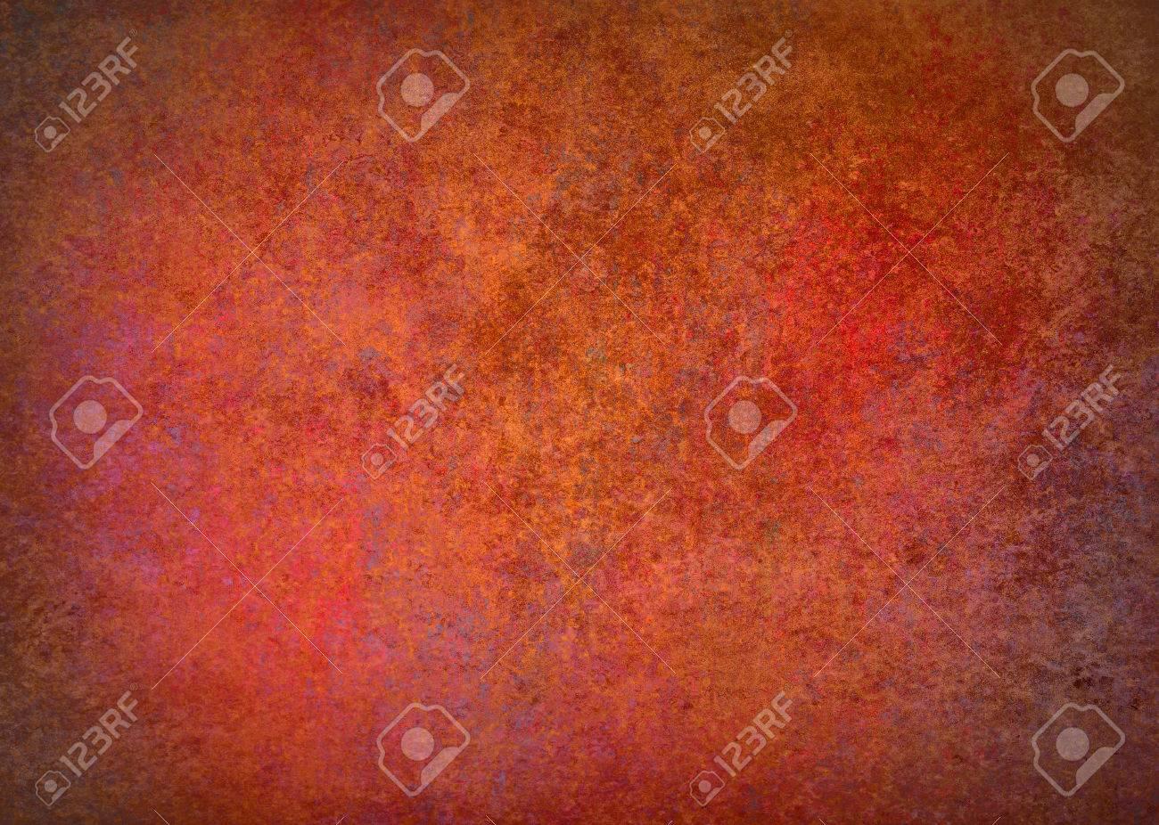 Peinture À L Éponge Sur Mur couleurs chaudes fond abstrait orange de frontière rouge avec une éponge  texture vintage grunge de fond, affligé peinture graisseux rugueux sur le