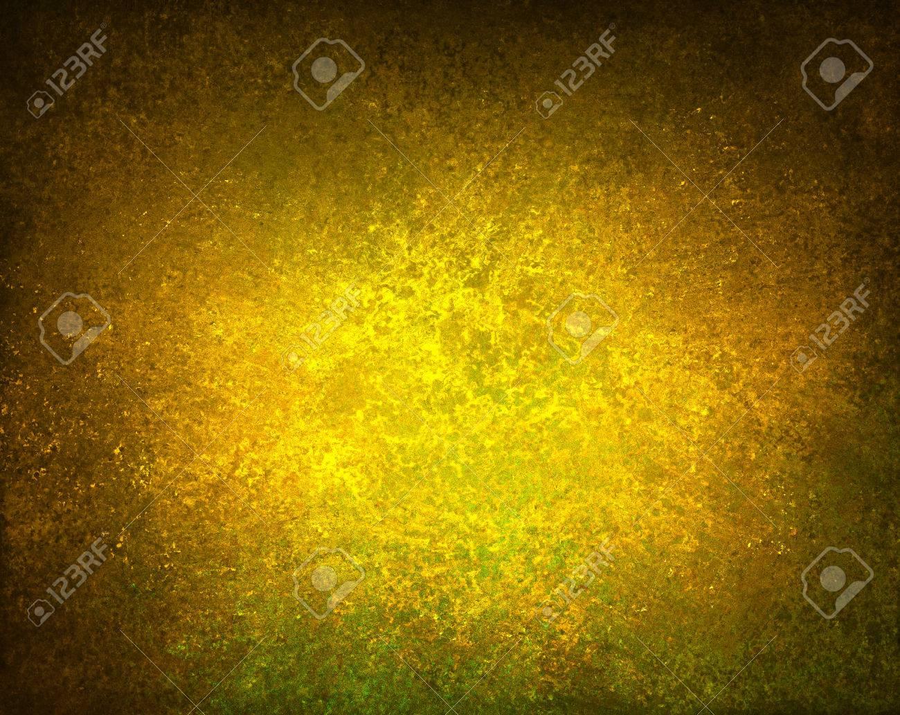 Abstrait En Or Jaune Frontière Brun Couleurs De Tonalité Chaude Avec Une éponge Texture Vintage Grunge De Fond Affligé Peinture Graisseux Rugueux Sur