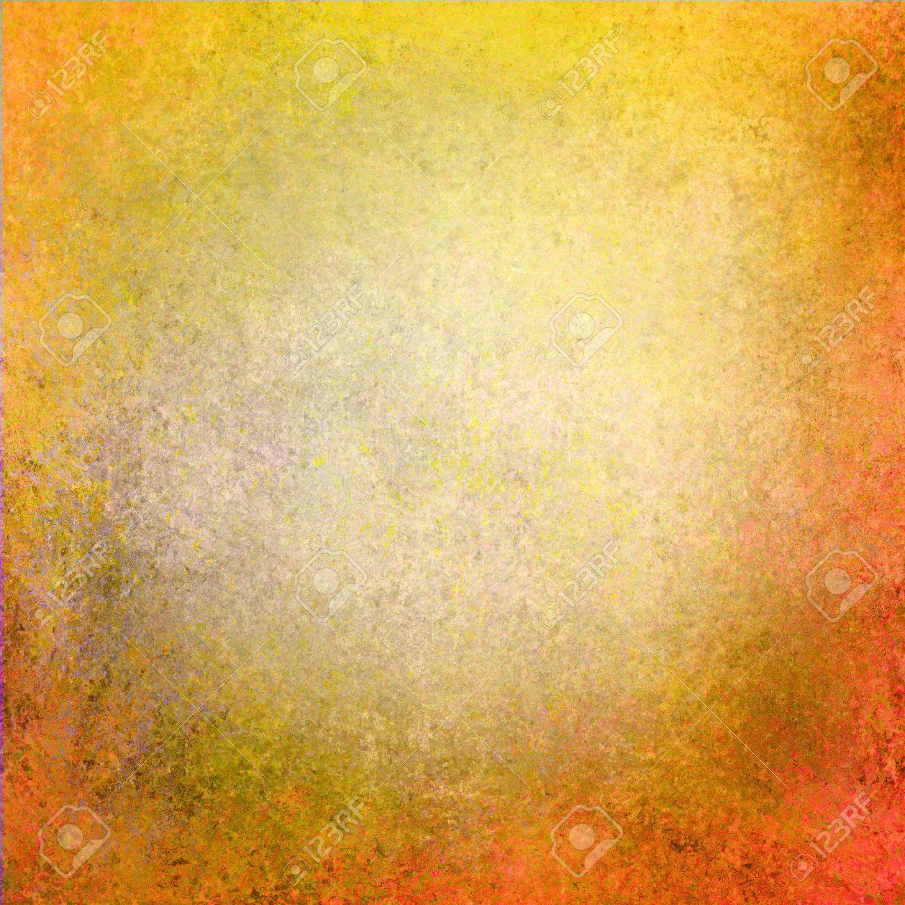 Abstraite Or De Couleur Orange Jaune Centre Blanc Cadre Noir, éponge ...