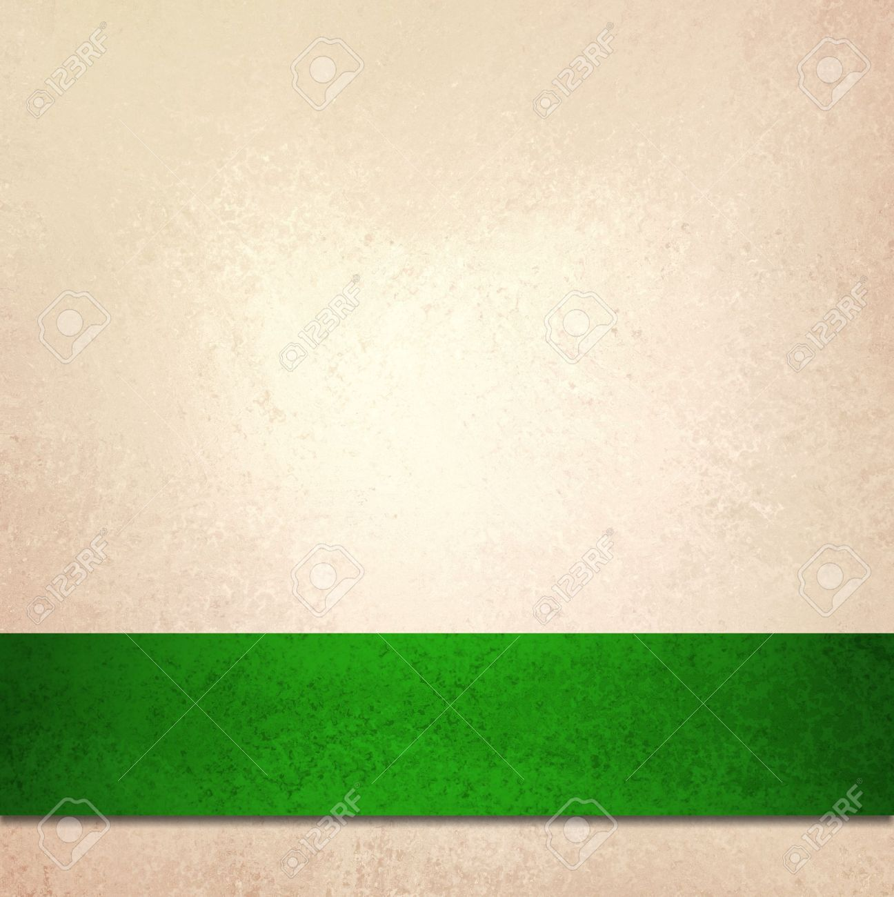Christmas Green Color.Abstract Off White Background And Christmas Green Ribbon Stripe