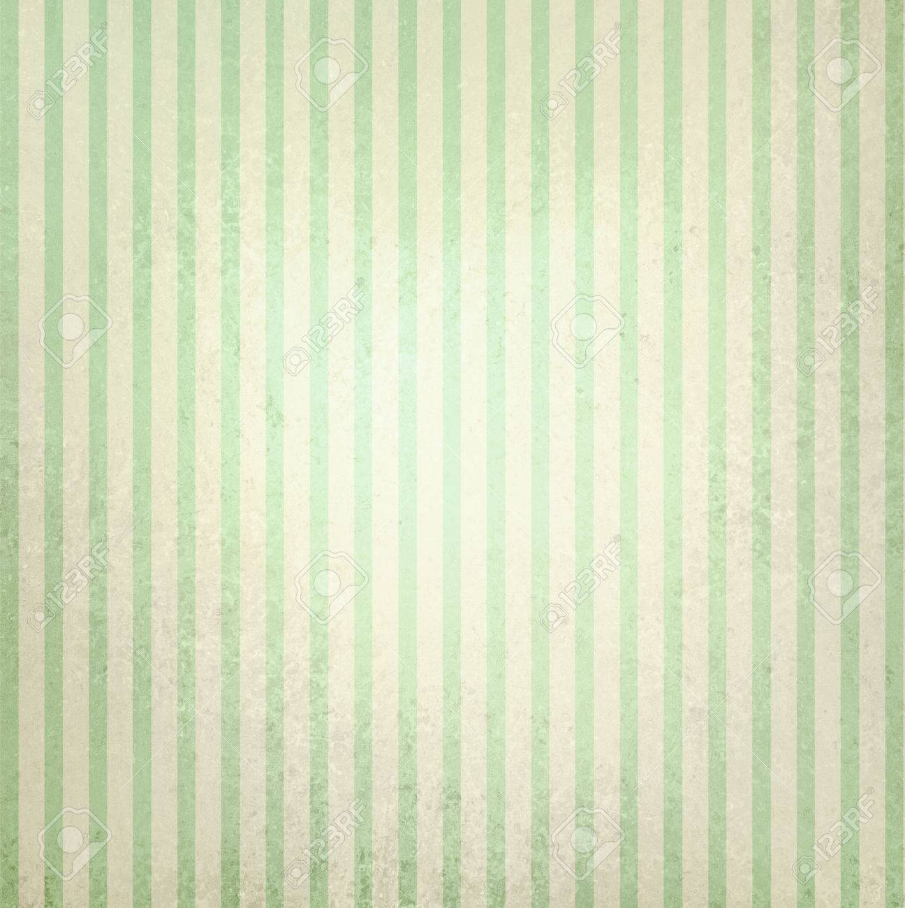 Faded Vintage Green And Beige Striped Background Shabby Chic Line Design Element On Distressed Texture