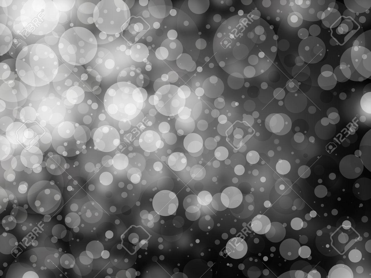 Gray black and white bokeh background shimmering white christmas