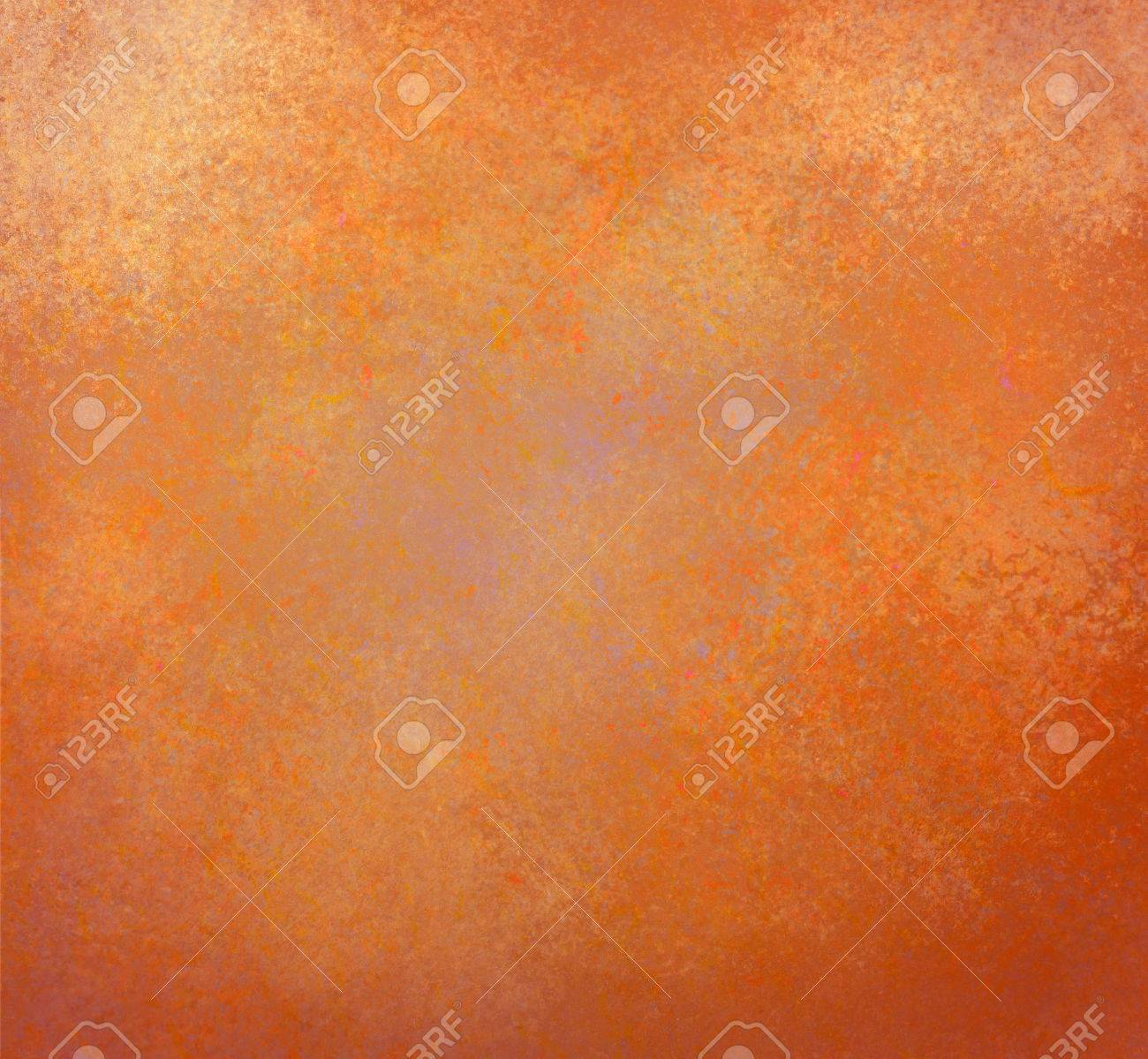 Rustic Orange Gold Background With Vintage Textured Paint Stock Photo