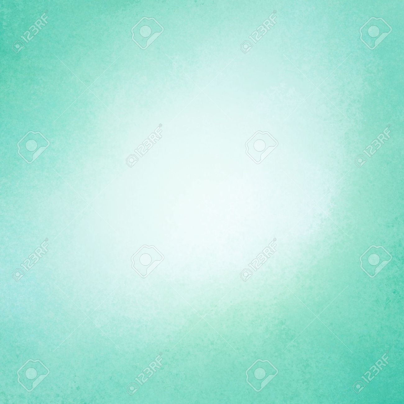 Soft Green Color Bright Blue Green Background Vintage Color And Sponged Distressed