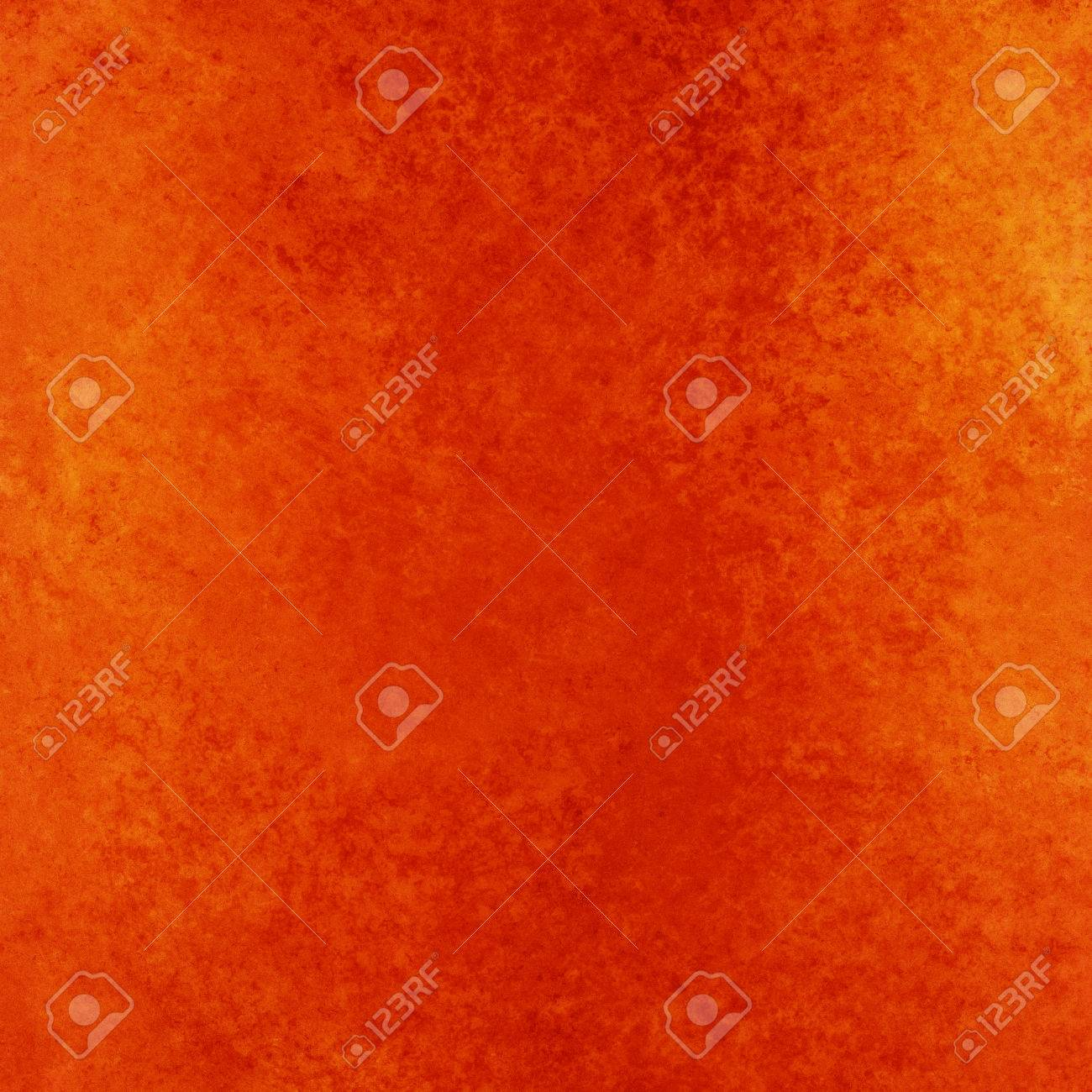 Rustic Orange Red Background With Vintage Textured Paint Stock Photo