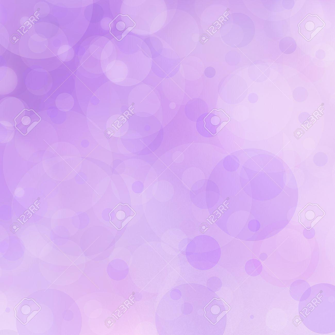 purple background bokeh lights circle bubble shape white lights design on pastel purple color stock photo