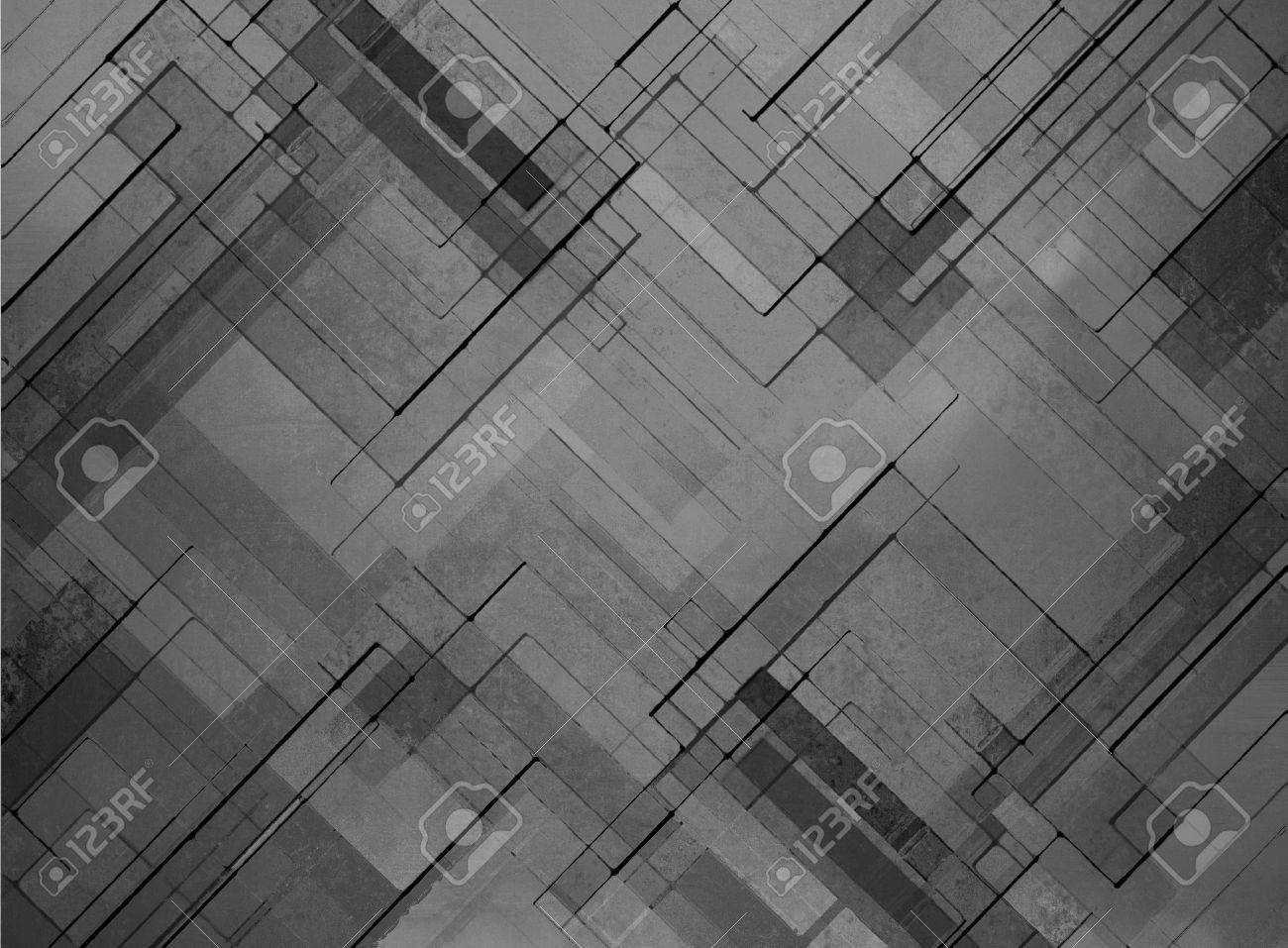 abstract black background faded gray geometric pattern of angles and lines, diagonal design elements, textured background - 43262784