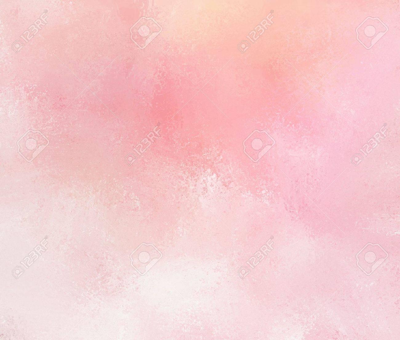 Sfondo Rosa Astratto Con Sbiaditi Pennellate Bianco Grunge
