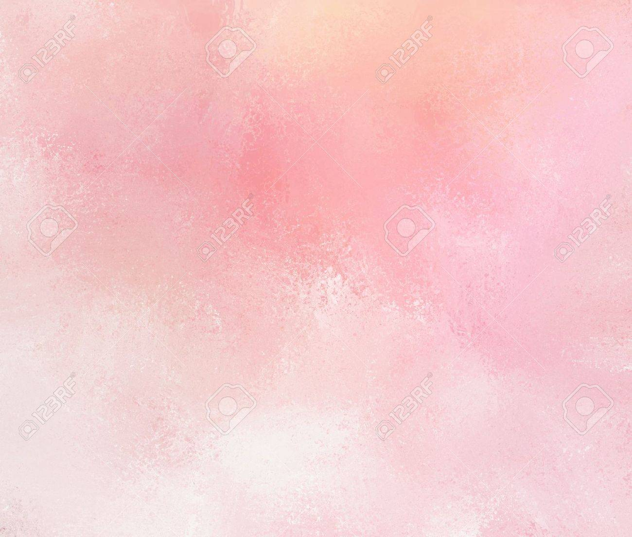 abstract pink background with faded white grunge brush strokes. Rough distressed texture on pale pink background with yellowed color tone. - 43272694
