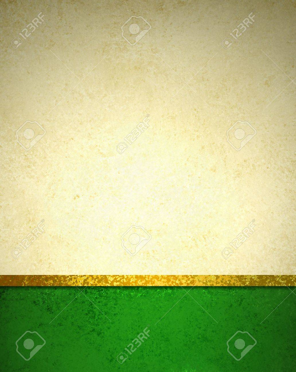 abstract gold background with dark green footer and gold ribbon trim border, beautiful template background layout, luxury elegant gold paper with vintage grunge background texture design - 43272882