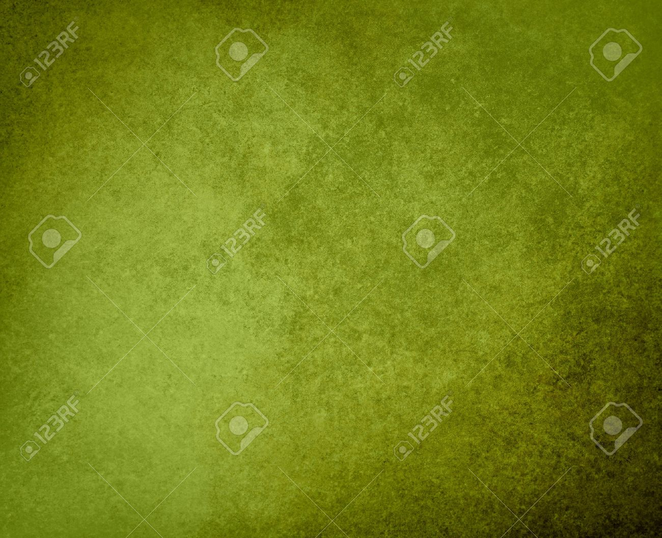 green background or grunge texture in olive green color, with black vintage grunge frame, has old faded solid background for text or copy space - 44566776